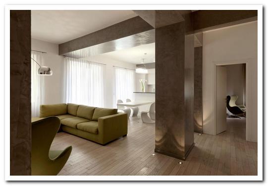 отделка колонн в квартире фото