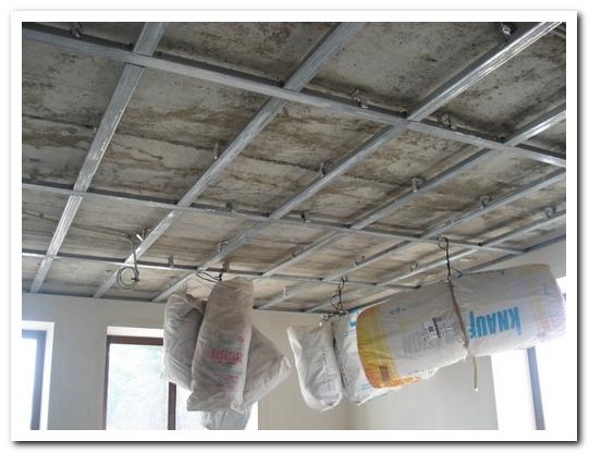 установка потолочных покрытий