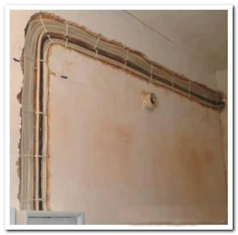 штробление стен для электропроводки