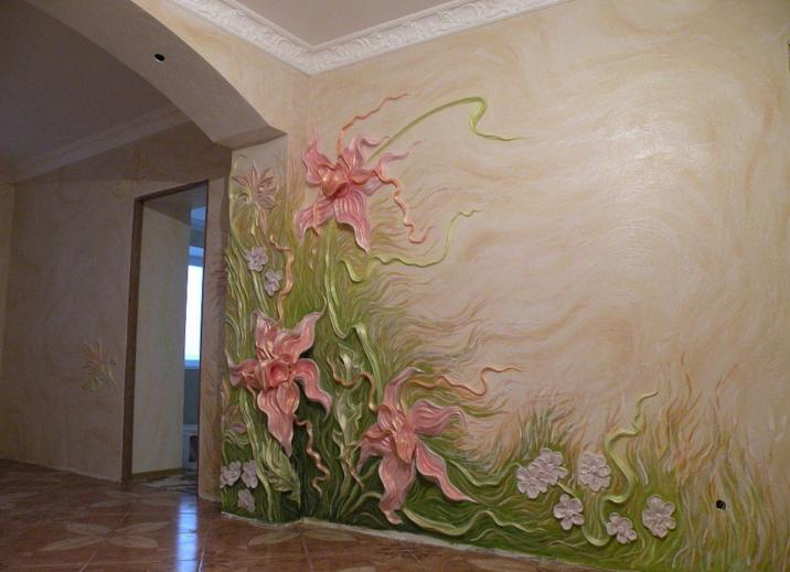 Роспись стен барельеф