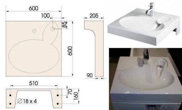 Экономим драгоценное место в ванной - устанавливаем раковину над стиральной машиной