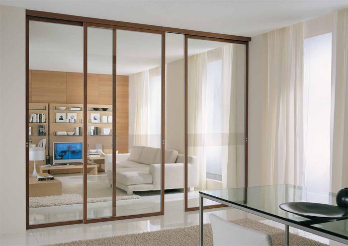 Виды раздвижных межкомнатных дверей и особенности их конструкции